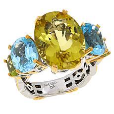 Gems by Michael Sterling Silver Multigemstone 5-Stone Ring