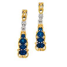 Gems by Michael Sterling Silver Neon Blue Apatite Drop Earrings