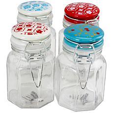 General Store Lake House 4-Piece 3.38 oz Mini Preserving Jar Set wi...