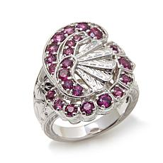 "Generations® 1912 - 1.57ctw Rhodolite ""Fan"" Sterling Silver Ring"