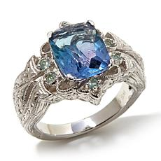 Generations® 1912 - 3.32ctw Bi-Color Fluorite and Alexandrite  Ring