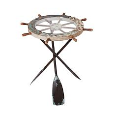 """Gerson 24.4"""" Nautical-Themed Side Table"""
