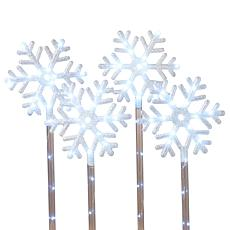 "Gerson 4-pack 30"" Electric LED Lighted Snowflake Yard Stakes"