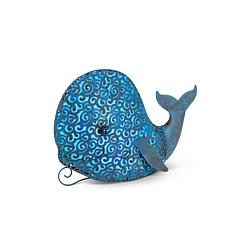 "Gerson Company 12.2"" Solar Lighted Garden Meadow Whale"