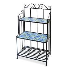 """Gerson Company 45""""H Metal Mosiac Tile Plant Shelf"""