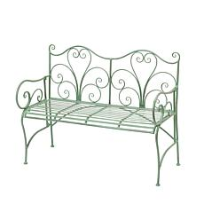 "Gerson Company 48""L Antique Green Metal Bench"