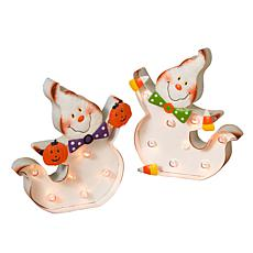 Gerson Company Set of 2 Happy Ghosts - 10""