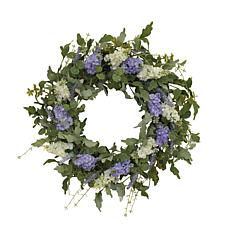 Gerson Hyacinth and Lavender Twig Wreath