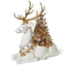 Gerson Large Resin Reindeer Planter Statue