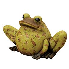 Gerson Magnesium Antiqued Garden Frog - Green
