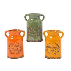 Gerson Set of 3 Assorted Ceramic Harvest Vases