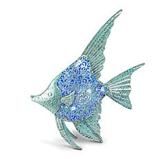 Gerson Solar LED Metal Angel Fish - Blue