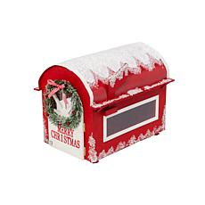Gerson Wooden Holiday Mailbox for Santa