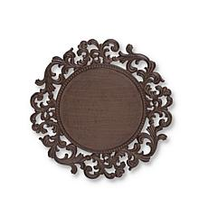 GG Collection Acanthus Leaf Ornate Brown Metal Chargers 4-pack