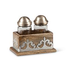 GG Collection Heritage Collection Wood & Metal Inlay Salt & Pepper Set