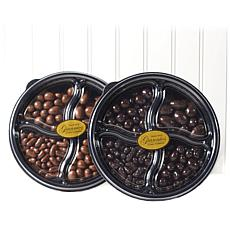 Giannios 2.5 lbs. Milk and Dark Chocolate Panning Trays 2-pack