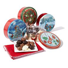 Giannios (4) 1 lb. Holiday Tins of Assorted Chocolate-Receive in Nov.