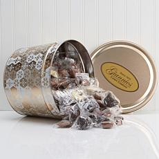Giannios 5.5 lbs. Assorted Chocolates in Shining Snowflake Tin