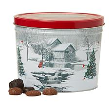 Giannios 5.5 lbs. Assorted Chocolates in Snow Covered Mill Tin - Nov