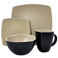 Gibosn Infinite Glaze Matte 16 Piece Dinnerware Set