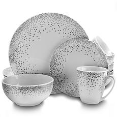 Gibson Home Dots Galore 16-piece Dinnerware Set