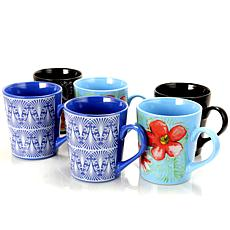 Gibson Home Floral Garden 6-piece Set of 23 oz. Mugs
