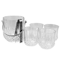 Gibson Home Glowing Ambers 6-piece Glass Ice Bucket Set