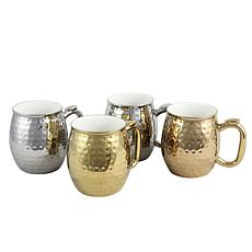 Gibson Home Harvest 4-piece 16 oz. Electroplated Cups