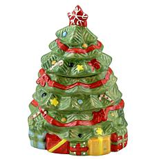 """Gibson Home Holiday Cheer 7.9"""" Hand-Painted  Christmas Tree Cookie Jar"""