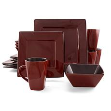 Gibson Kiesling 16-piece Hard Square Dinnerware Set