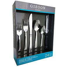 Gibson Palmore Plus 24Piece Flatware Set with 4 Steak Knives