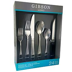Gibson Wilmington 24 Piece Flatware Set with 4 Steak Knives