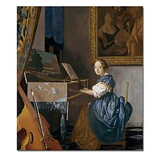 Giclee Print - A Young Lady Seated at a Virginal