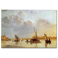 Giclee Print - Boats on a River 1658