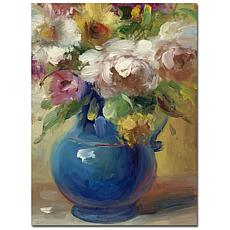 "Giclee Print - Flowers in a Blue Vase 35"" x 47"""