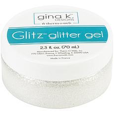 Gina K Designs Glitz Glitter Gel, 2.3oz - White