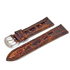 Giorgio Milano Brown Croco-Embossed Leather Watch Strap