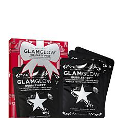 GLAMGLOW Pre Party Prep Oxygenating Deep Cleanse BubbleSheet Mask Trio
