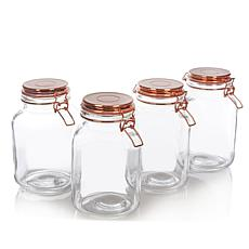 Go Green by Kinetic 4-pack 100 oz. Copper Canning Jars