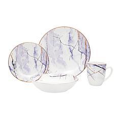 Godinger Leon Porcelain 16-Piece Dinnerware Set, Service For 4