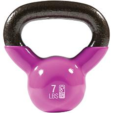 GoFit Premium Kettlebell with Training DVD (7lbs, Magenta)