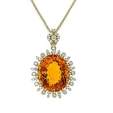 Gold & Diamond Source® Palmeira Citrine Pendant