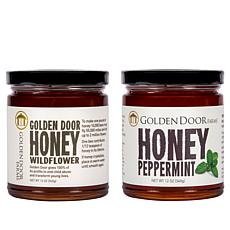 Golden Door 2-pack of Raw Peppermint & Wildflower Honey