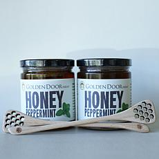 Golden Door 2-pack of Raw Peppermint Honey with Dippers Auto-Ship®