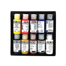 Golden Principal 10-Tube Fluid Acrylic Set