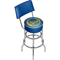 Golden State Warriors Padded Swivel Bar Stool with Back