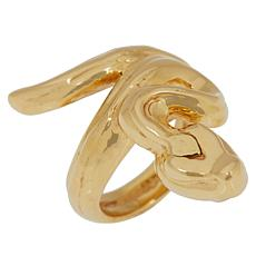 Golden Treasures 14K Italian Gold Snake-Design Ring