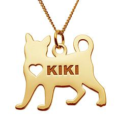 Goldtone Sterling Silver Pet Pendant with Chain