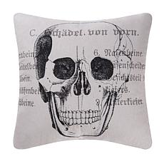 Goth Skull Printed Pillow