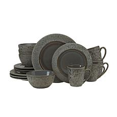 Gourmet Basics by Mikasa Neera Gray 16-Piece Dinnerware Set